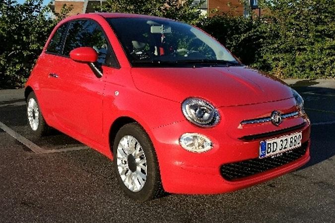 Billig billeje af Fiat 500 med AUX/MP3 indgang nær 8700 Horsens.