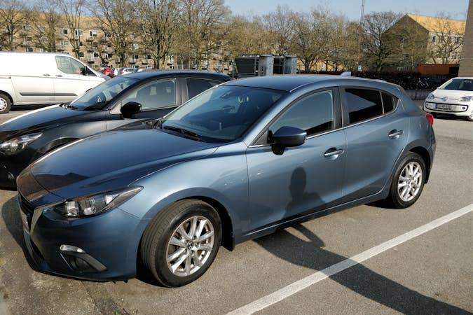 Billig billeje af Mazda 3 Skyactiv-D 2,2 med GPS nær 8000 Aarhus.