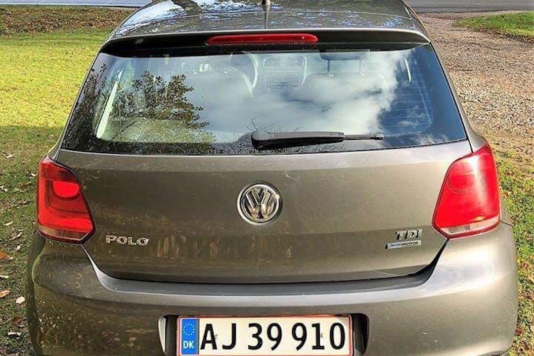 Billig billeje af VW Polo 1.6 TDI Blue Motion med Anhængertræk nær 8210 Aarhus.
