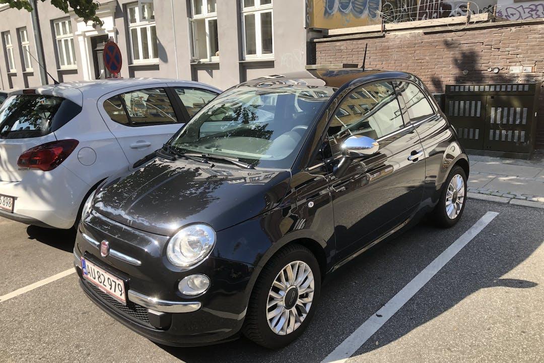 Billig billeje af Fiat 500 nær 2000 Frederiksberg.