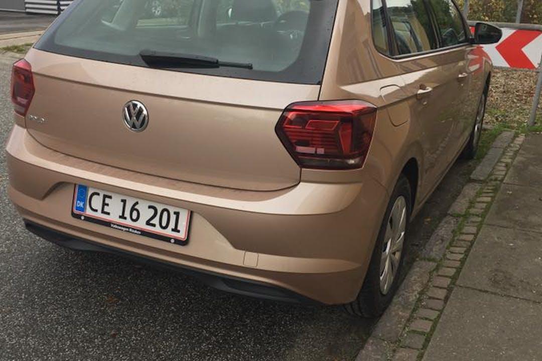 Billig billeje af Volkswagen Polo 2019, 1.0 95 hk DSG med Isofix beslag nær 8600 Silkeborg.