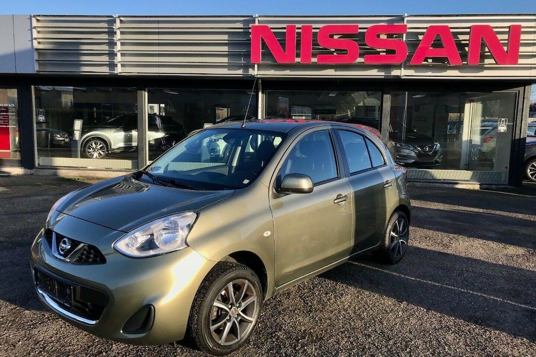 Billig billeje af Nissan Micra nær  Frederiksberg.