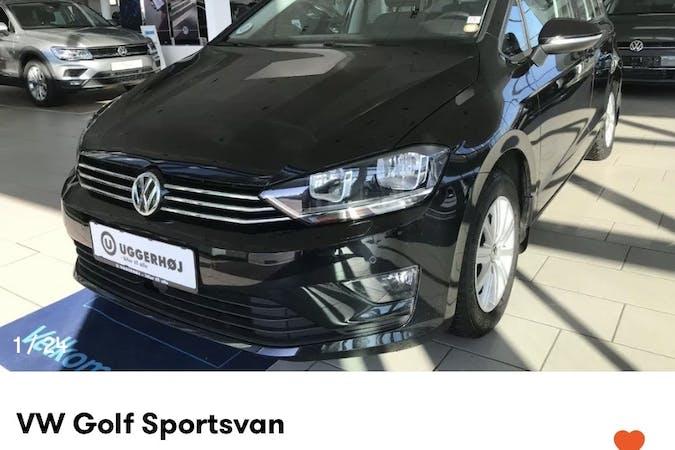 Billig billeje af Volkswagen Golf Sportsvan med Isofix beslag nær 2000 Frederiksberg.