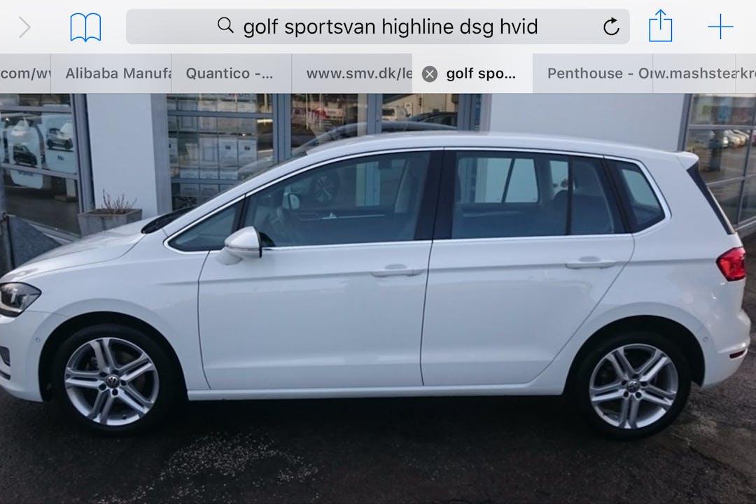 Billig billeje af Volkswagen Golf Sportsvan med Aircondition nær 1432 København.