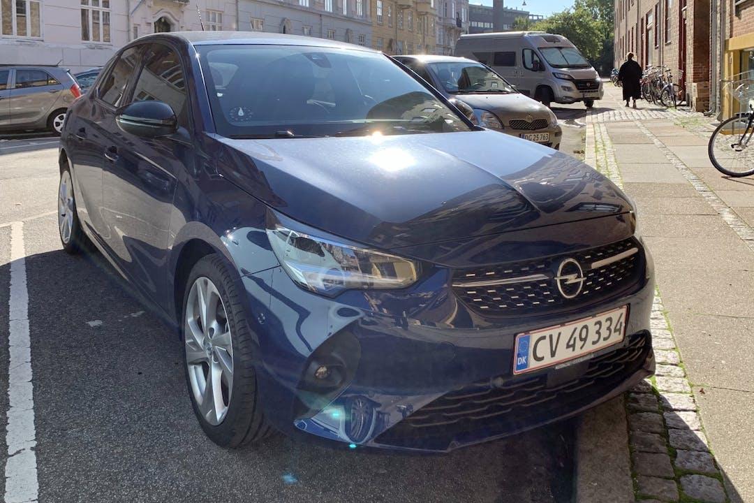 Billig billeje af Opel Corsa med Isofix beslag nær 2200 København.