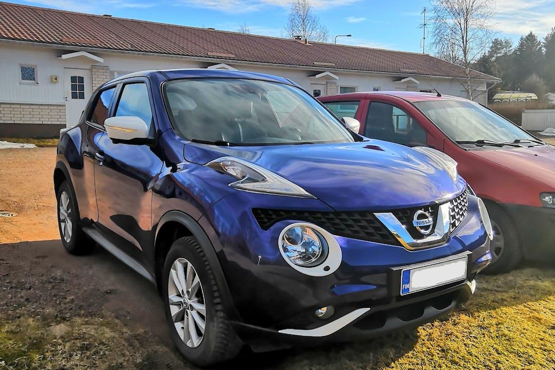 Nissan Juken lalpa vuokraus lähellä 28500 Pori.