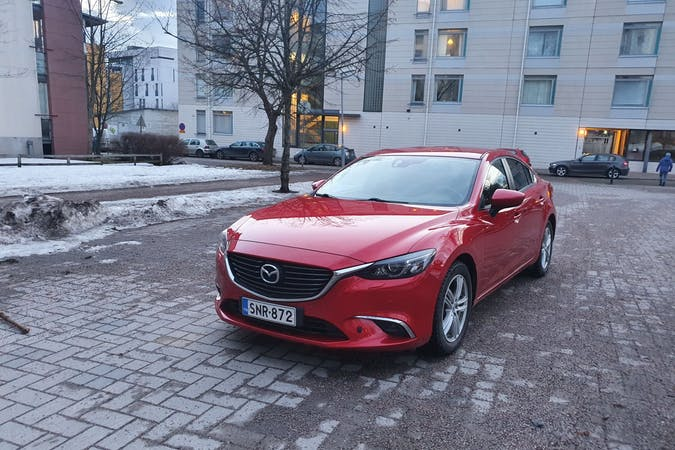 Mazda 6n halpa vuokraus GPSn kanssa lähellä 00380 Helsinki.
