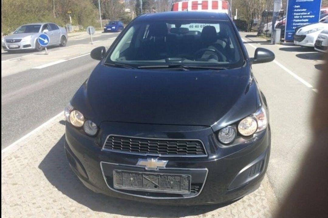 Billig billeje af Chevrolet Aveo med Isofix beslag nær 3000 Helsingør.