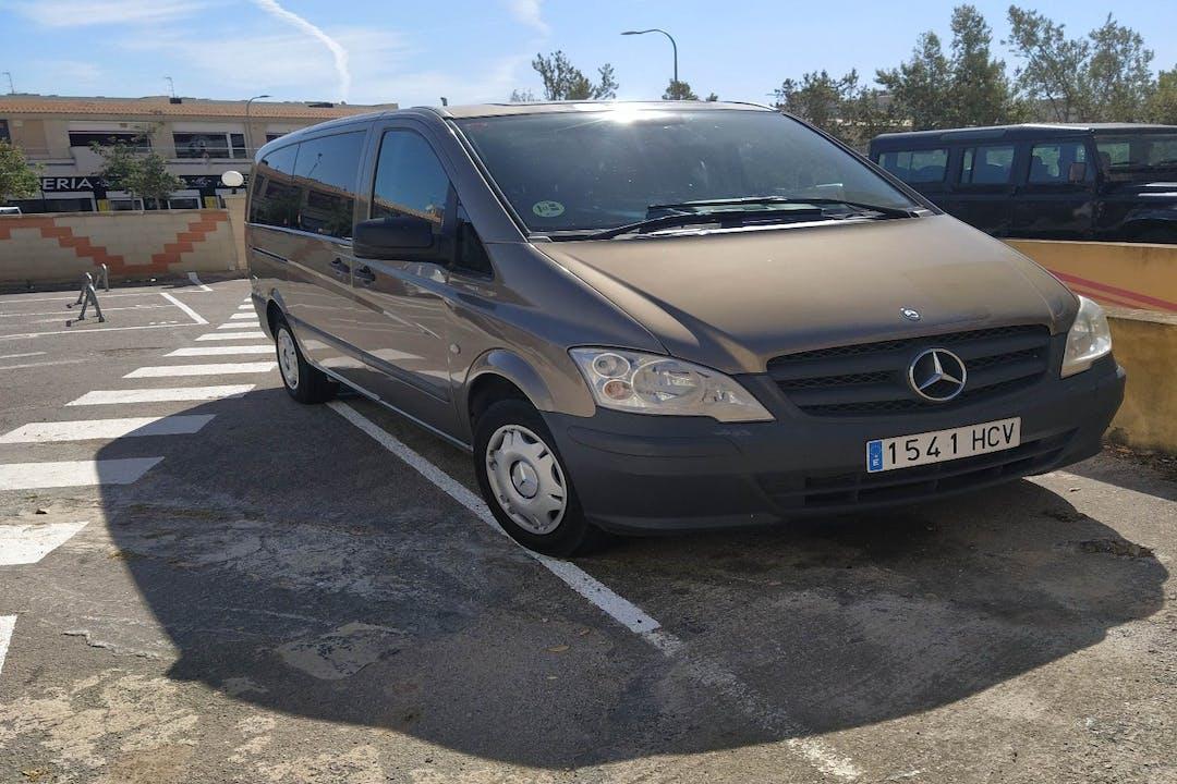 Alquiler barato de Mercedes Vito cerca de 07610 Palma.