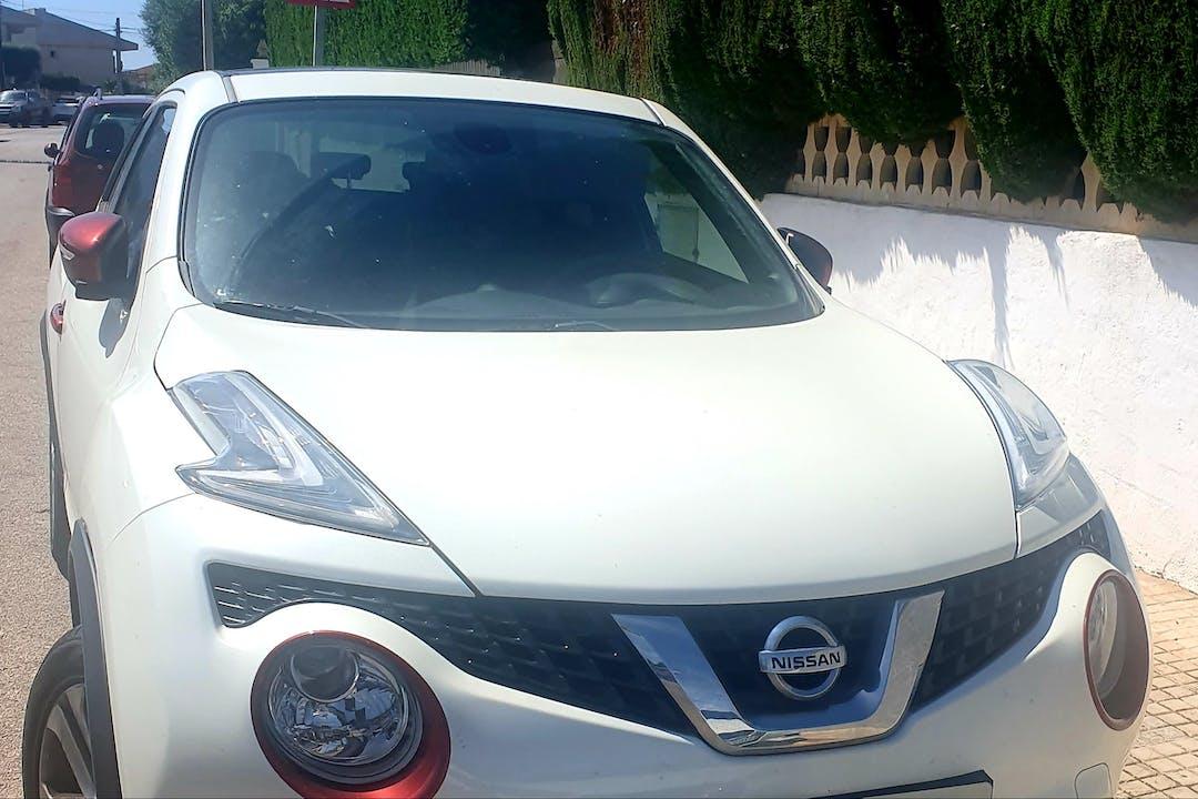 Alquiler barato de Nissan Juke con equipamiento GPS cerca de 07609 Badia Blava.