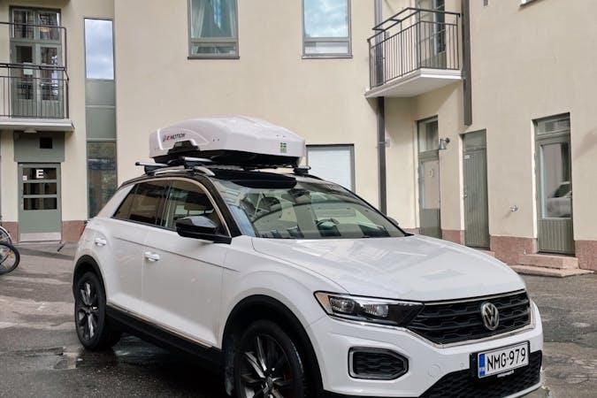 Volkswagen T-Rocn halpa vuokraus GPSn kanssa lähellä 00100 Helsinki.