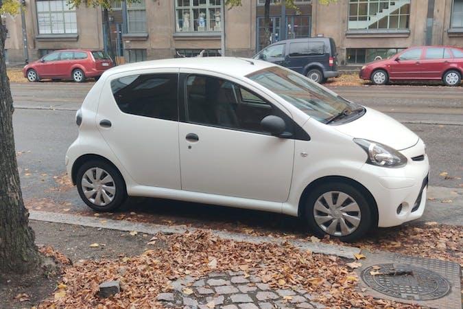 Toyota AYGOn lalpa vuokraus lähellä 00240 Helsinki.