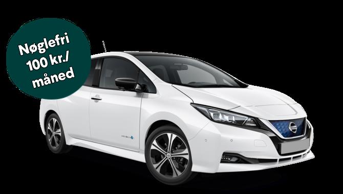 Billig privatleasing af Nissan Leaf Tekna 40 kWh Leather Ultra Suede | GoMore